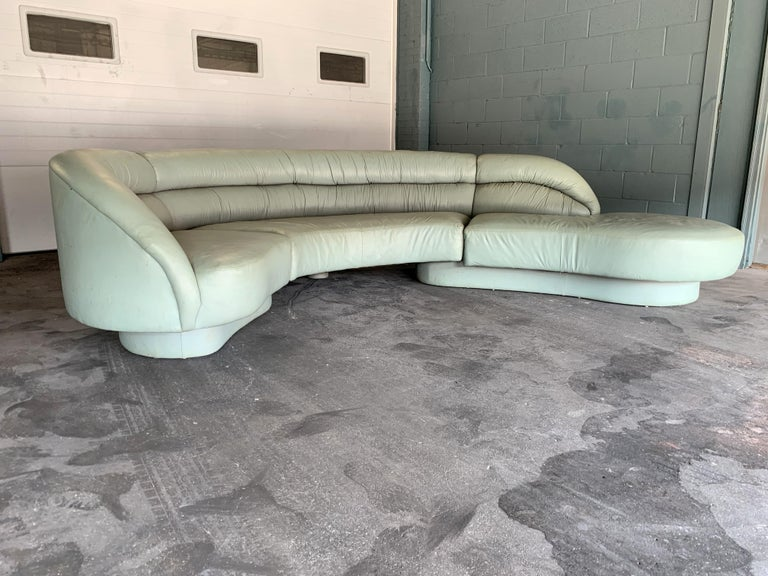 American Vladimir Kagan for Directional 3-Piece Serpentine Sectional For Sale