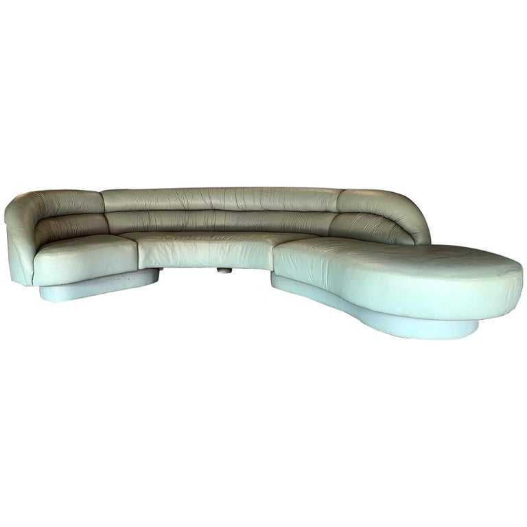 Vladimir Kagan for Directional 3-Piece Serpentine Sectional For Sale