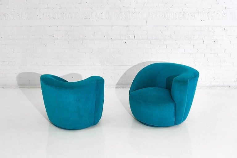 "American Vladimir Kagan for Directional ""Nautilus"" Swivel Chairs, 1980"