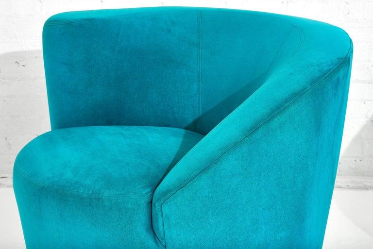 "Vladimir Kagan for Directional ""Nautilus"" Swivel Chairs, 1980 1"