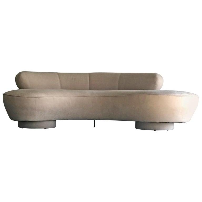 Vladimir Kagan for Directional Serpentine Sofa, Organic Modernist