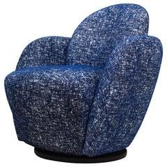 Vladimir Kagan For Directional Swivel Lounge Chair