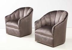 Vladimir Kagan for Directional Swivel Lounge Chairs