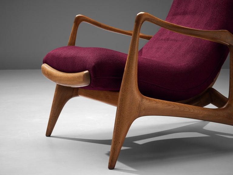 Mid-Century Modern Vladimir Kagan for Dreyfuss Reclining 'Contour' Lounge Chair For Sale