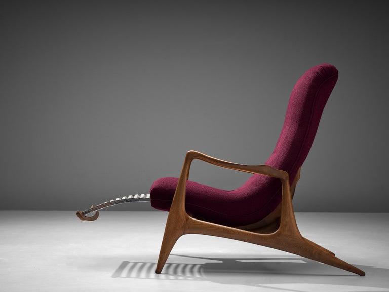 American Vladimir Kagan for Dreyfuss Reclining 'Contour' Lounge Chair For Sale