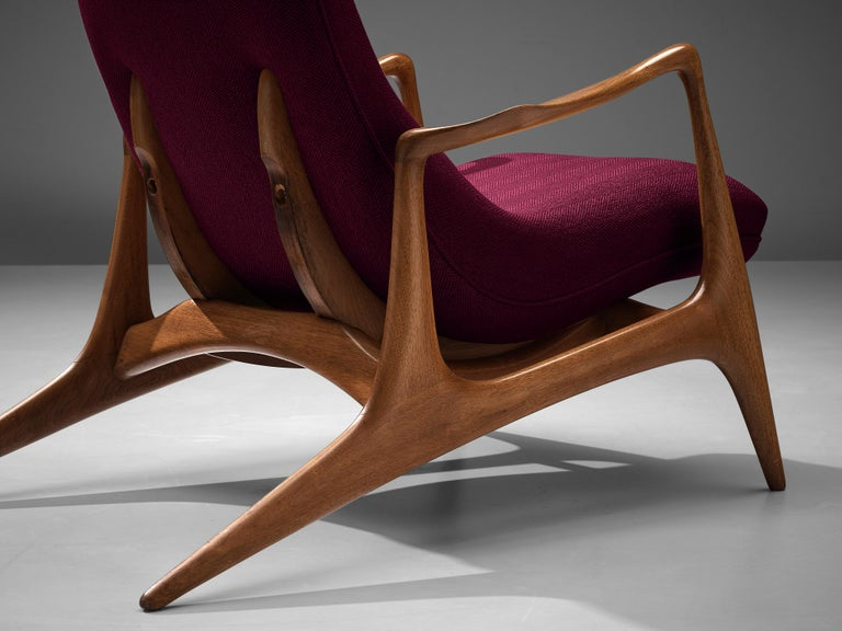 Vladimir Kagan for Dreyfuss Reclining 'Contour' Lounge Chair In Good Condition For Sale In Waalwijk, NL