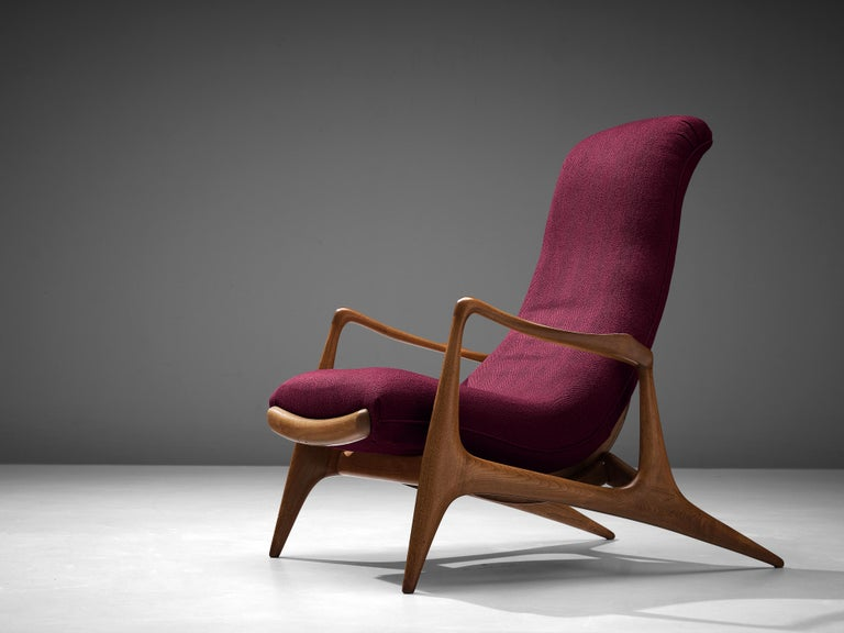 Mid-20th Century Vladimir Kagan for Dreyfuss Reclining 'Contour' Lounge Chair For Sale