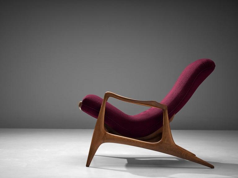 Vladimir Kagan for Dreyfuss Reclining 'Contour' Lounge Chair For Sale 1