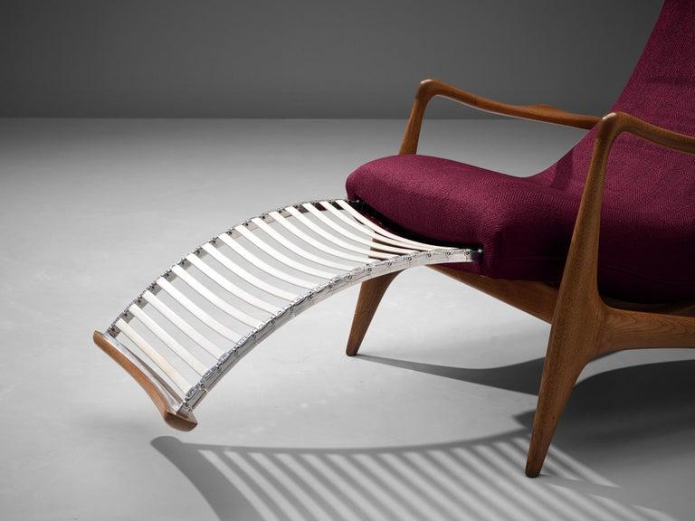 Vladimir Kagan for Dreyfuss Reclining 'Contour' Lounge Chair For Sale 2
