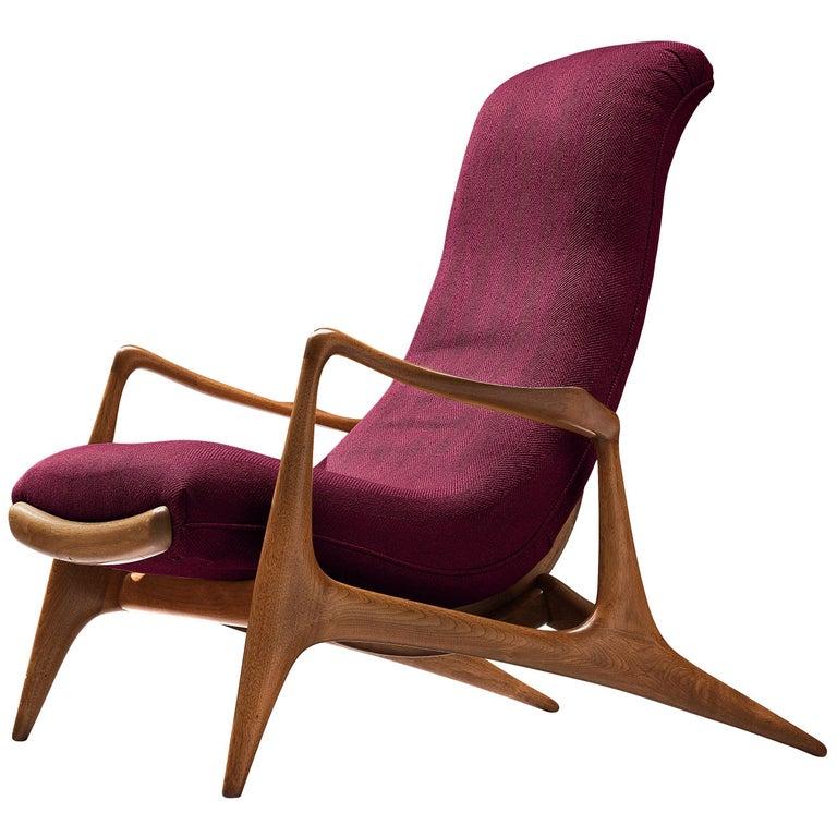 Vladimir Kagan for Dreyfuss Reclining 'Contour' Lounge Chair For Sale