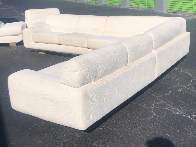 Vladimir Kagan for Preview Modern Plush Floating Executive Sectional Sofa For Sale 5