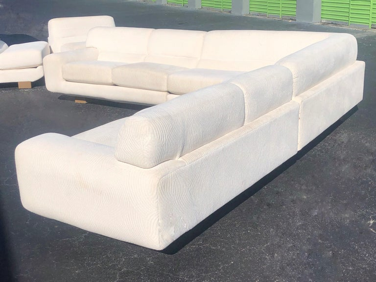 A large sectional sofa. 5 pieces. 1