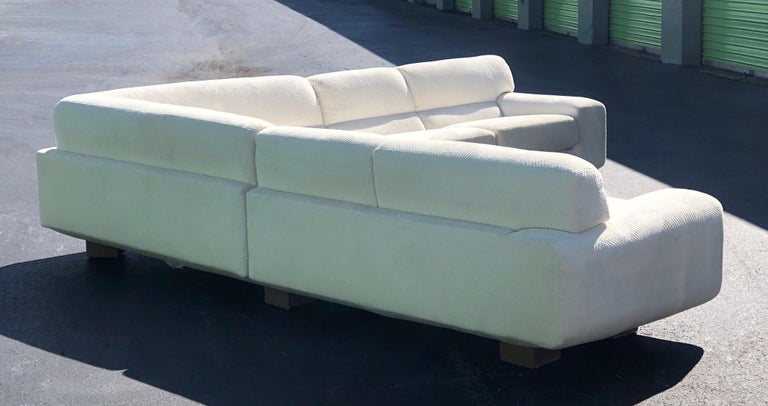 Late 20th Century Vladimir Kagan for Preview Modern Plush Floating Executive Sectional Sofa For Sale
