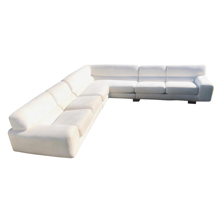 Vladimir Kagan for Preview Modern Plush Floating Executive Sectional Sofa For Sale