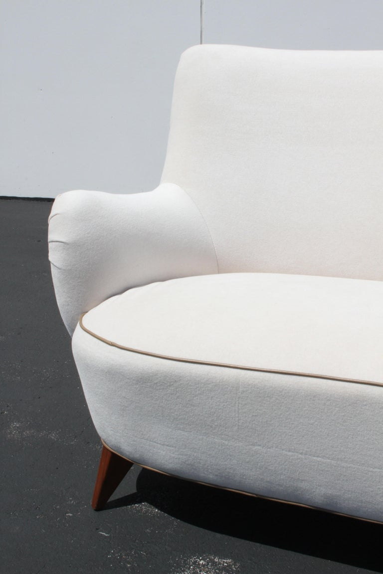 Vladimir Kagan for Pucci Sculptural Form Sofa, Holy Hunt Fabric For Sale 7