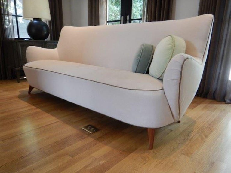 Mid-Century Modern Vladimir Kagan for Pucci Sculptural Form Sofa, Holy Hunt Fabric For Sale