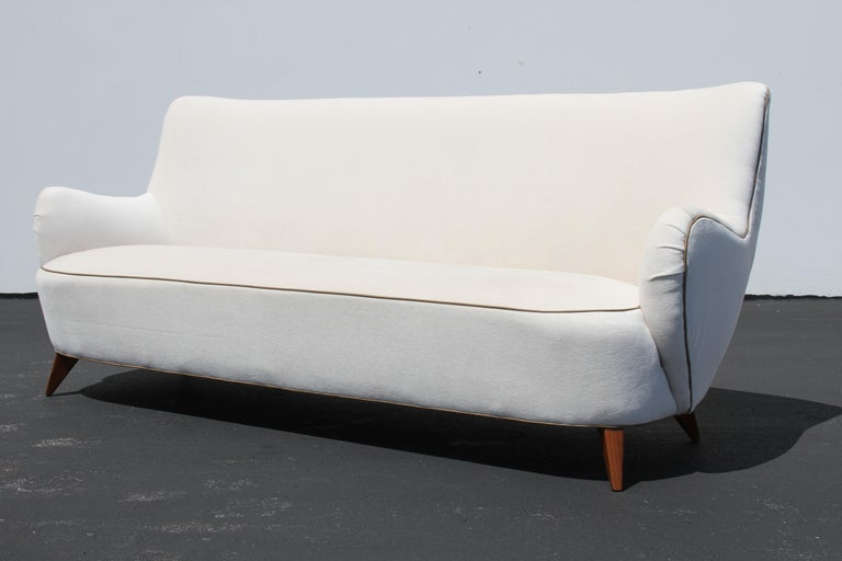 American Vladimir Kagan for Pucci Sculptural Form Sofa, Holy Hunt Fabric For Sale