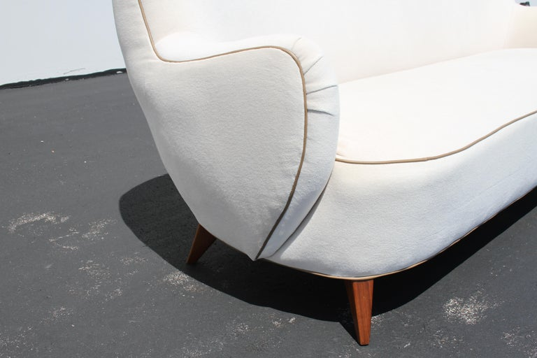 Upholstery Vladimir Kagan for Pucci Sculptural Form Sofa, Holy Hunt Fabric For Sale