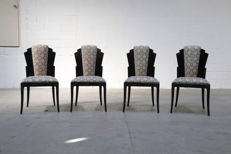 Vladimir Kagan Handmade Postmodern Dining Chairs, Set of Eight, 1980s, Signed For Sale 2