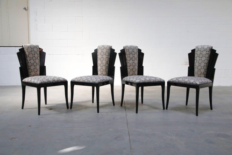 Vladimir Kagan Handmade Postmodern Dining Chairs, Set of Eight, 1980s, Signed For Sale 3