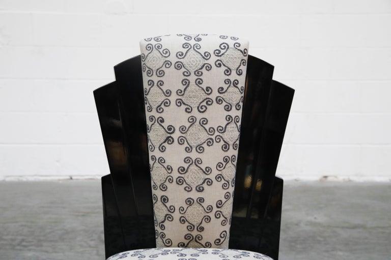 Vladimir Kagan Handmade Postmodern Dining Chairs, Set of Eight, 1980s, Signed For Sale 4