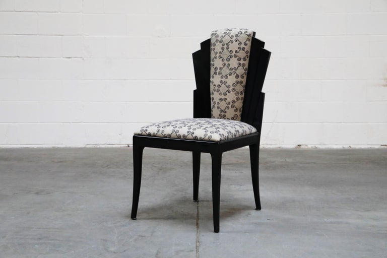 Post-Modern Vladimir Kagan Handmade Postmodern Dining Chairs, Set of Eight, 1980s, Signed For Sale
