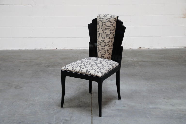 American Vladimir Kagan Handmade Postmodern Dining Chairs, Set of Eight, 1980s, Signed For Sale