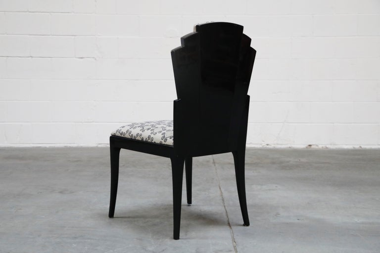 Vladimir Kagan Handmade Postmodern Dining Chairs, Set of Eight, 1980s, Signed In Excellent Condition For Sale In Los Angeles, CA