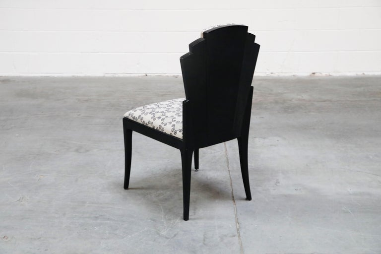 Late 20th Century Vladimir Kagan Handmade Postmodern Dining Chairs, Set of Eight, 1980s, Signed For Sale