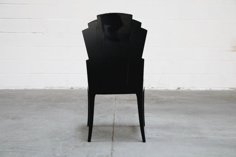 Wood Vladimir Kagan Handmade Postmodern Dining Chairs, Set of Eight, 1980s, Signed For Sale