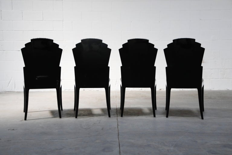 Vladimir Kagan Handmade Postmodern Dining Chairs, Set of Eight, 1980s, Signed For Sale 1