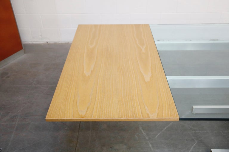 Vladimir Kagan Model 6705 Glass-Top Extension Dining Table, 1967, Signed For Sale 4