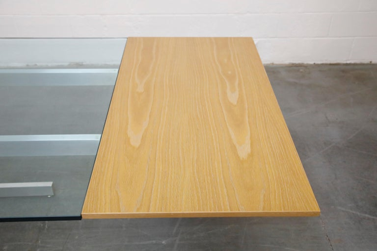 Vladimir Kagan Model 6705 Glass-Top Extension Dining Table, 1967, Signed For Sale 5