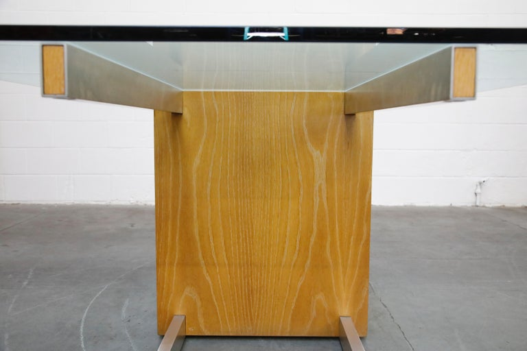Vladimir Kagan Model 6705 Glass-Top Extension Dining Table, 1967, Signed For Sale 8