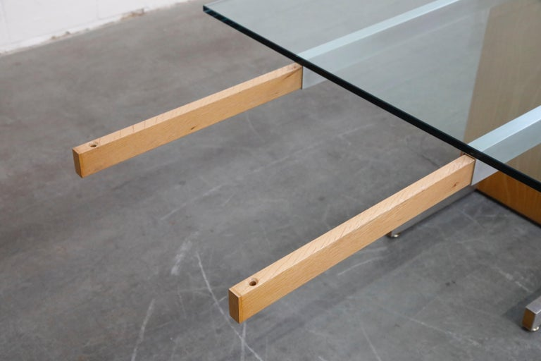 Vladimir Kagan Model 6705 Glass-Top Extension Dining Table, 1967, Signed For Sale 10