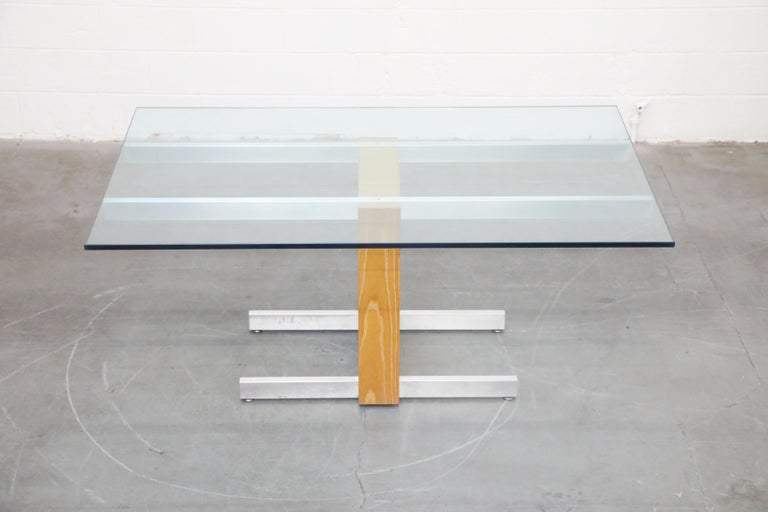 Vladimir Kagan Model 6705 Glass-Top Extension Dining Table, 1967, Signed For Sale 2