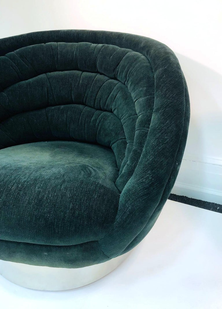 Late 20th Century Vladimir Kagan Modern Lounge Chairs For Sale