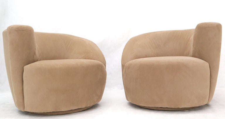 Mid-Century Modern Vladimir Kagan Nautilus Camel Upholstery For Sale
