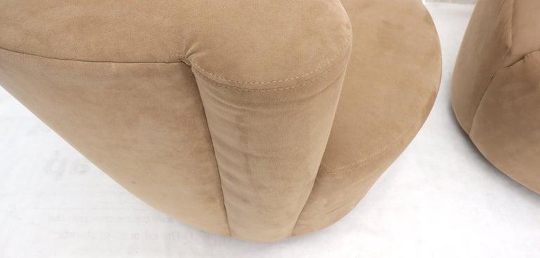 20th Century Vladimir Kagan Nautilus Camel Upholstery For Sale