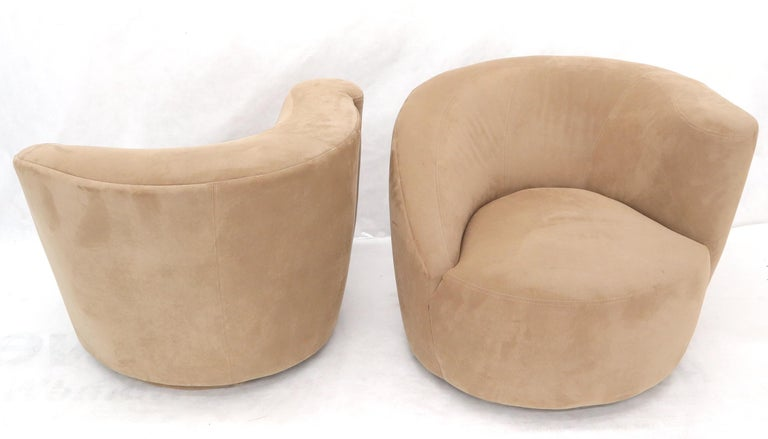 Vladimir Kagan Nautilus Camel Upholstery For Sale 1