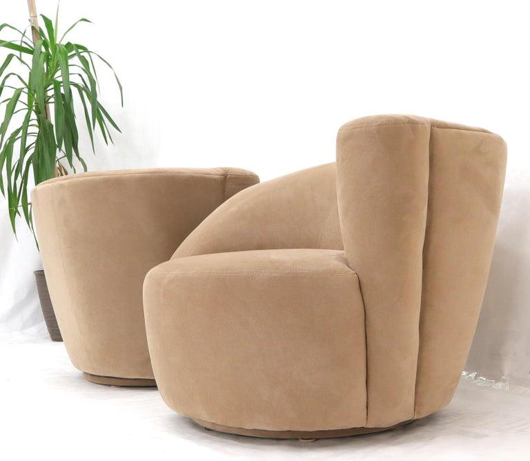 Vladimir Kagan Nautilus Camel Upholstery For Sale 2