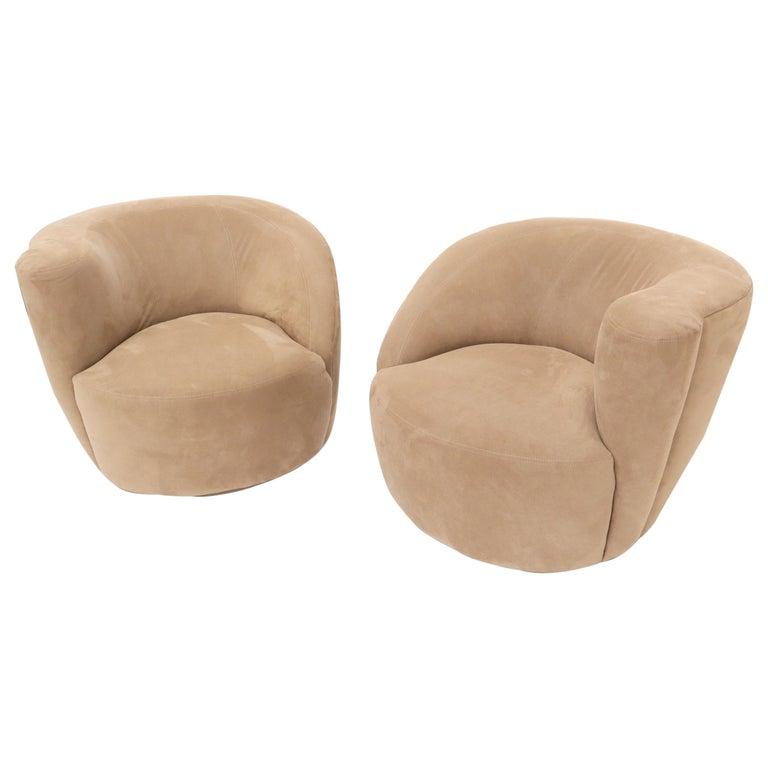 Vladimir Kagan Nautilus Camel Upholstery For Sale