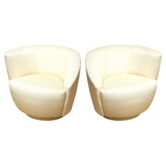 "Vladimir Kagan ""Nautilus"" Swivel Lounge Chairs Vintage Pair Of"