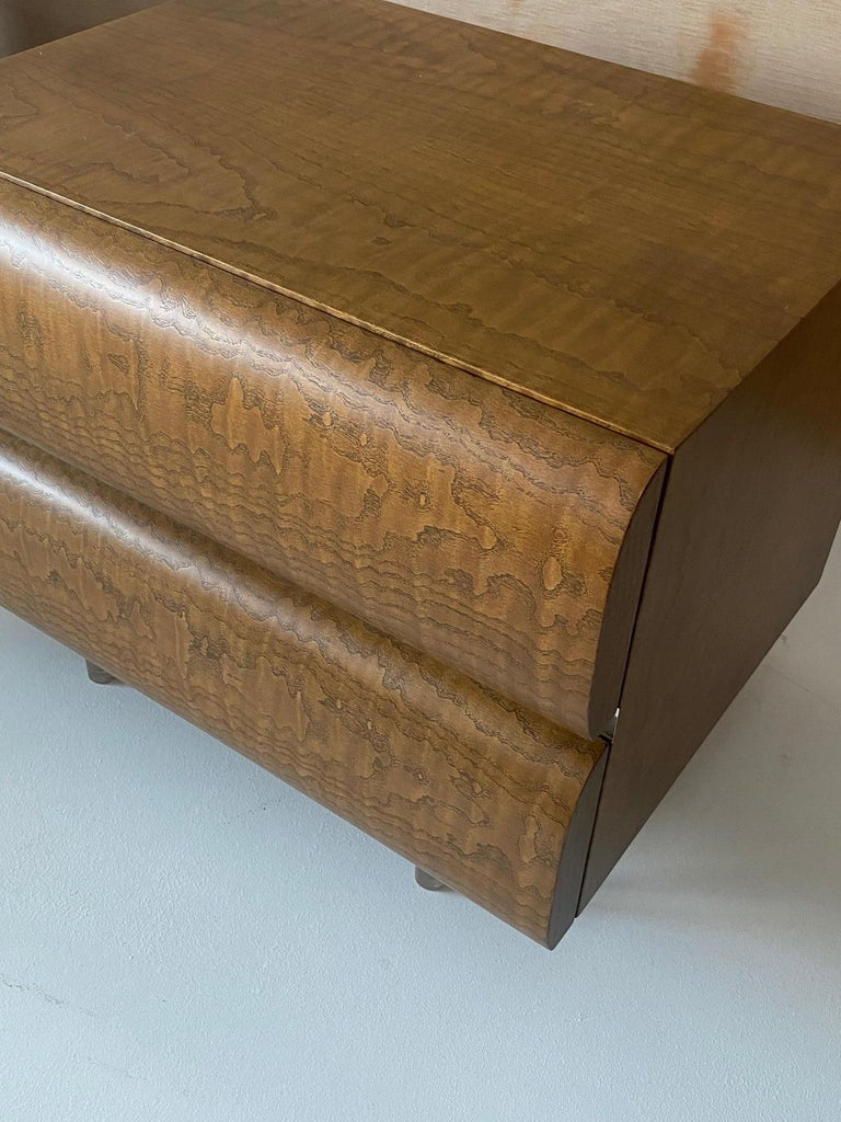 American Vladimir Kagan, Nightstands, Wood, Acrylic, Studio, America, 1970s For Sale