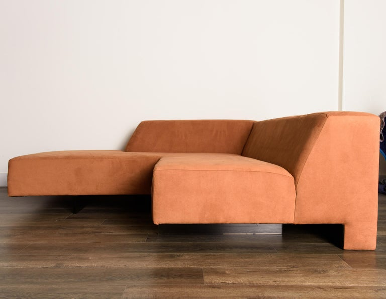 Vladimir Kagan 'Omnibus' Sectional Sofa with Lucite Legs, 1970s For Sale 5