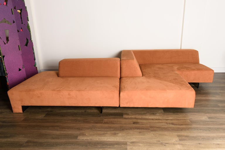 This incredible large sectional sofa is by Vladimir Kagan, called the 'Omnibus' seating system. Designed in the 1960s, the Omnibus has remained as one of the most prolific and unique sectional sofa designs spanning all decades since, celebrated by