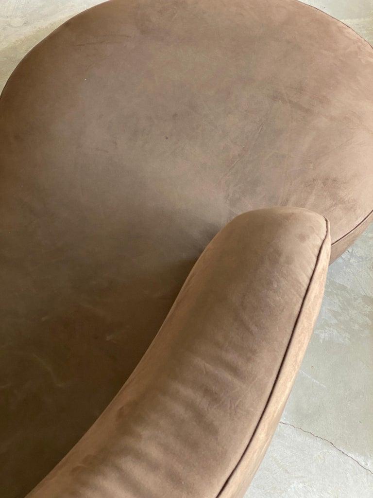 Vladimir Kagan, Organic Sofa, Original Brown Velvet, circa 1999 For Sale 1
