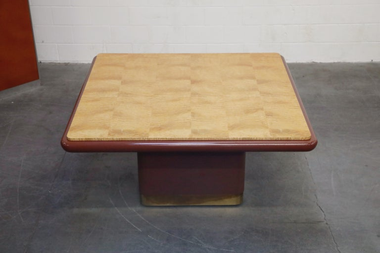 Vladimir Kagan Quilted Maple Large Dining or Conference Room Table, Signed For Sale 2