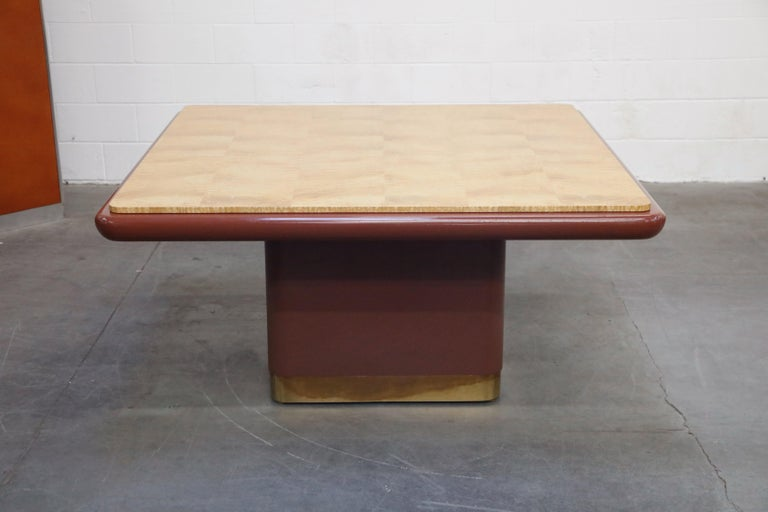 Vladimir Kagan Quilted Maple Large Dining or Conference Room Table, Signed For Sale 3