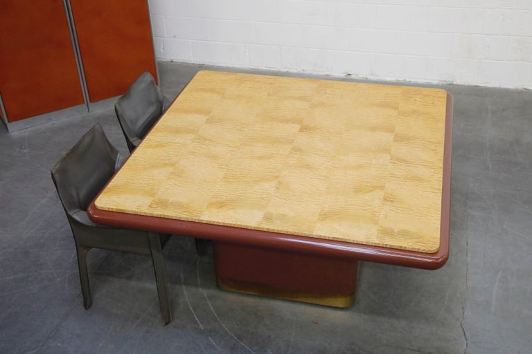 Mid-Century Modern Vladimir Kagan Quilted Maple Large Dining or Conference Room Table, Signed For Sale